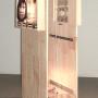 Homo sapiens, estampe numérique sur plastique pour boîte lumineuse, 193 x 73 x 64 cm, 2004