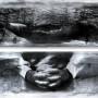 Brèche, transferts photo et huile sur aluminium, 72 x 120 cm, 1999