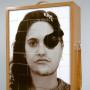 Doublure, face A, estampe numérique sur bois Balsa coupé et déposé dans un coffret, 70 x 50 x 30 cm, 2003