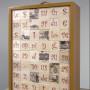 Doublure, face B, transferts photos sur Balsa découpés et déposés dans un coffret, 70 x 50 x 30 cm, 2003
