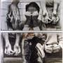 Sans rime ni raison, transferts photographiques et huile sur aluminium, 100 x 90 cm, 1999