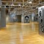 Optique, exposition, transferts photo et huile sur aluminium, galerie Montcalm, 1999