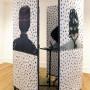 Pile ou Face, installation estampes numériques sur papier, 200 x 80 cm par panneau, vidéo, Centre d'artistes Voix Visuelle, 2007