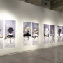 Water under the bridge, estampes numériques, vue d'ensemble, 120 x 100 cm chaque oeuvre, MAC Santiago, 2008
