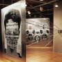 Optique, détail de l'accrochage, panneaux et tiges d'aluminium, 203 x 152 cm x 2,4 m, galerie Montcalm, 1999